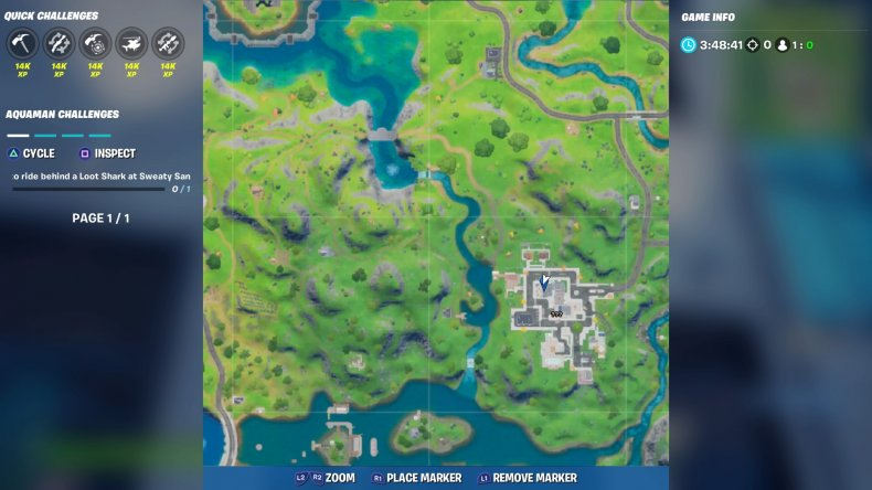 fortite lazy lake floating ring location 3