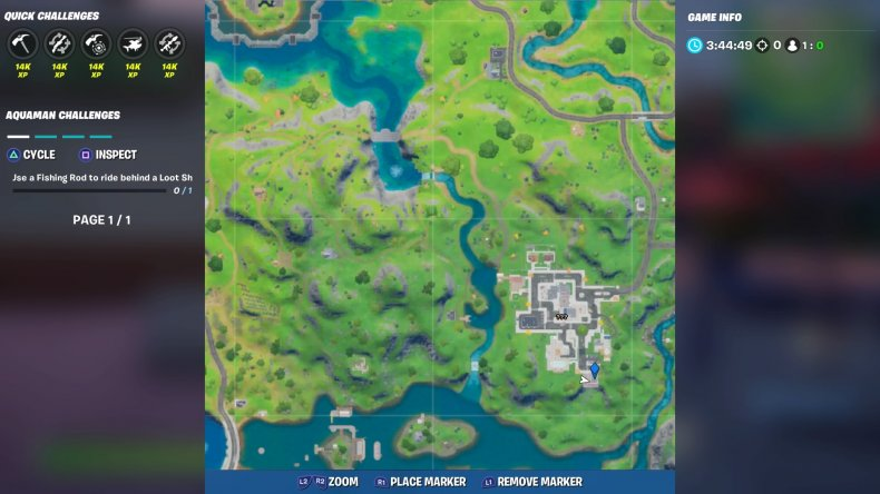 fortite lazy lake floating ring location 4