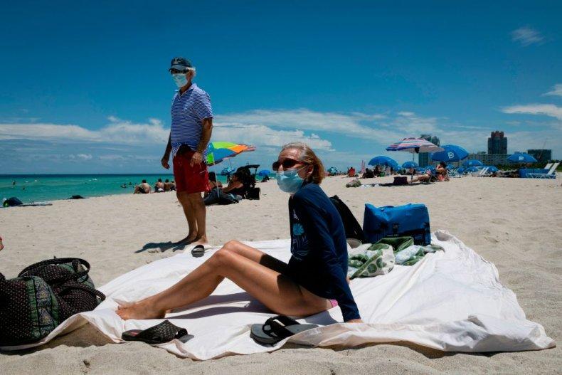 Florida beach during coronavirus