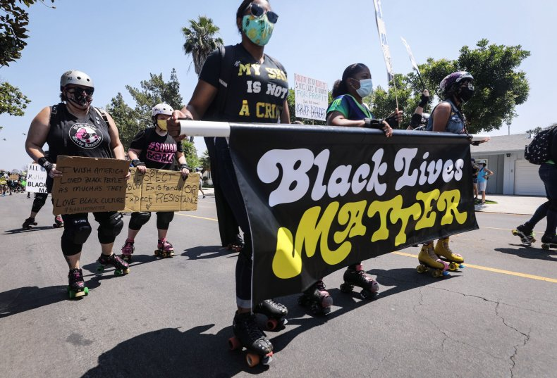 Black Lives Matter protesters in Los Angeles