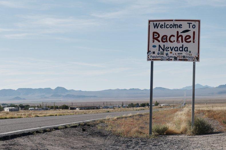 Rachel, Nevada sign