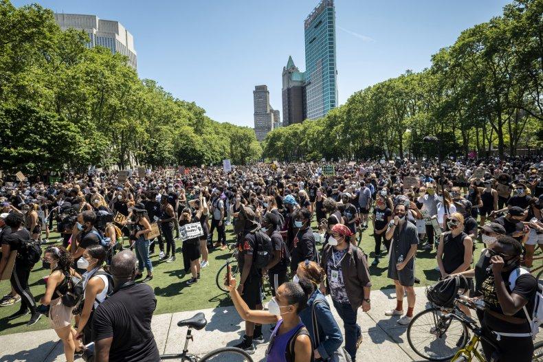 Brooklyn Bridge George Floyd protest June 2020