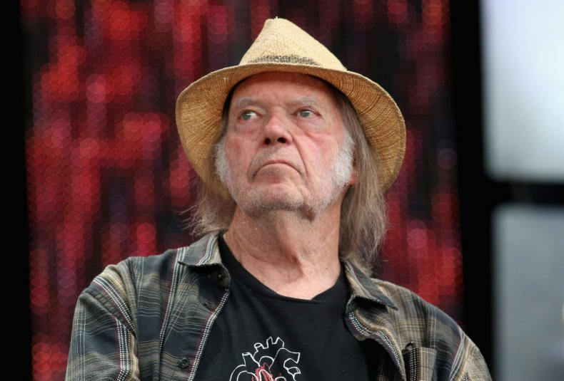 Canadian singer-songwriter Neil Young