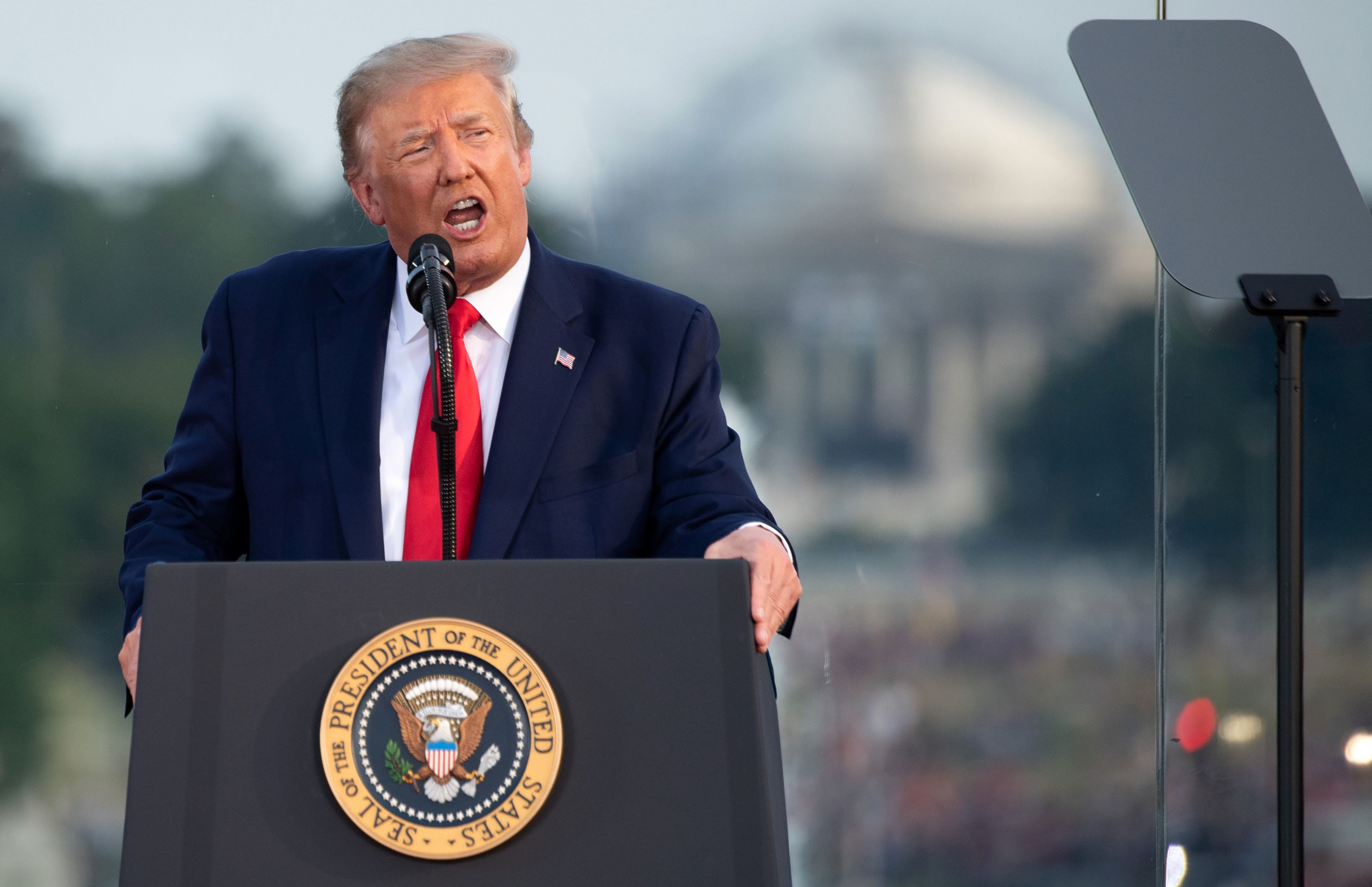 Trump appears to threaten CNN over network's July 4th speech coverage