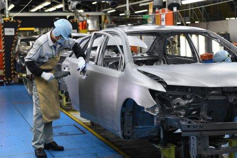 Toyota car production line Japan 2017