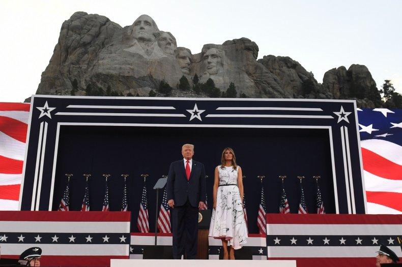 President Donald Trump at Mount Rushmore