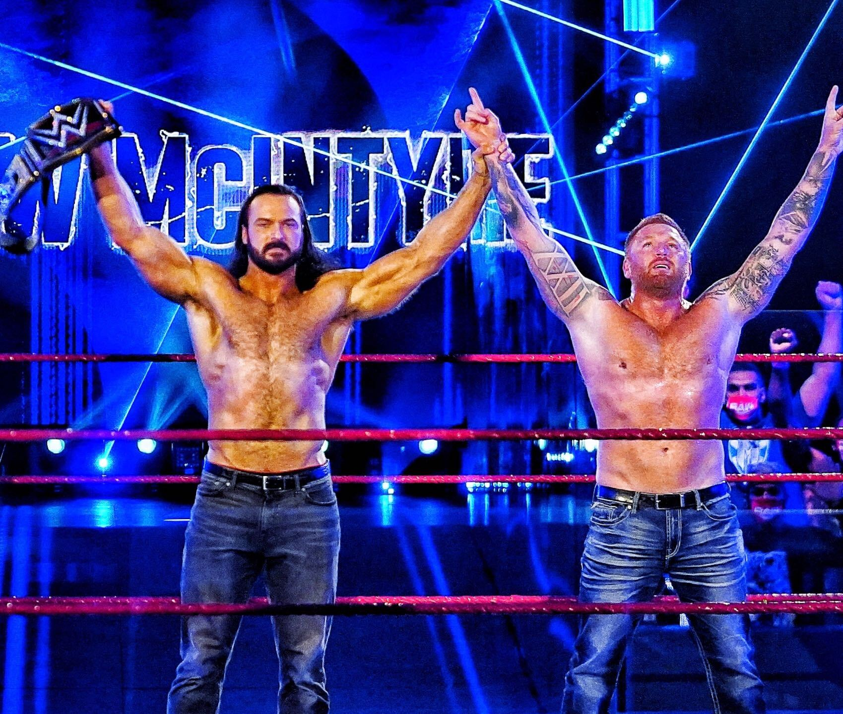 "Heath Slater returned to ""Monday Night RAW"" to challenge Drew McIntyre"