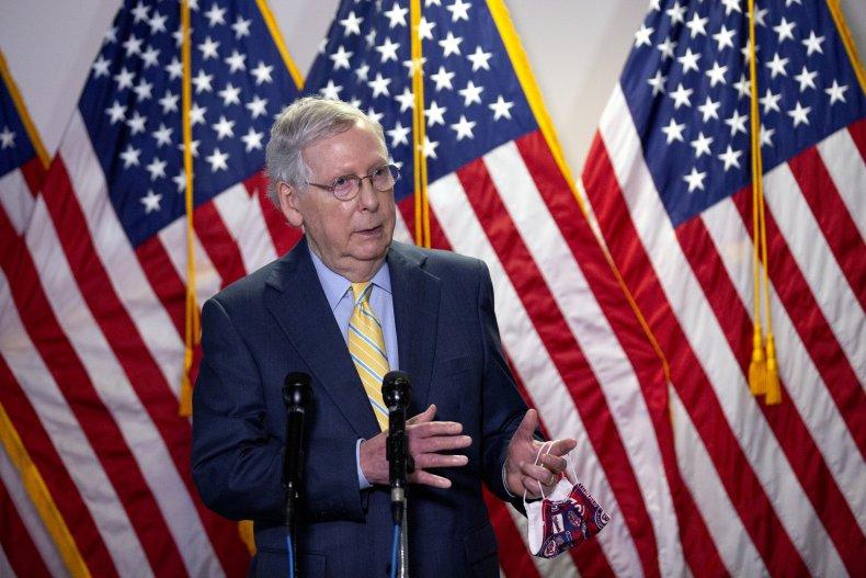 Mitch McConnell second stimulus check Senate Trump