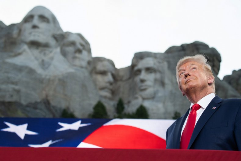 President Donald Trump at Mount Rushmore