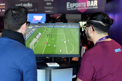 Gamers play Fifa 19 video game