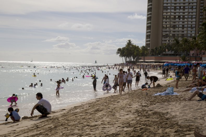 Waikiki beach, Honolulu, Hawaii, August 2018