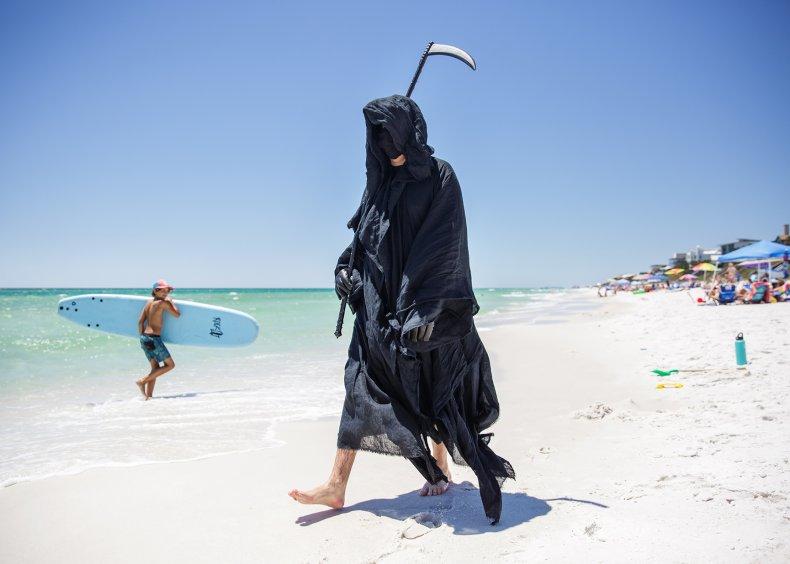 Florida, beaches, Grim Reaper, Coronavirus