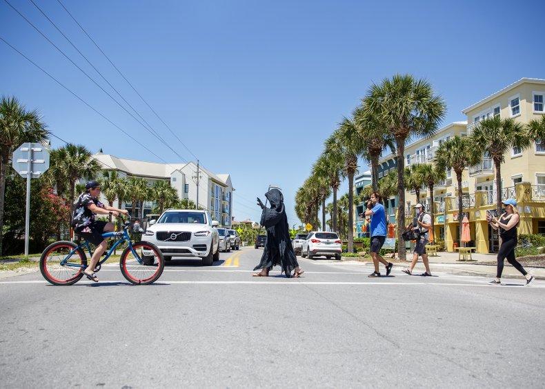 Grim reaper, Florida, Coronavirus, Pandemic