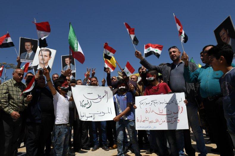 syria, protest, iran, flag, aleppo