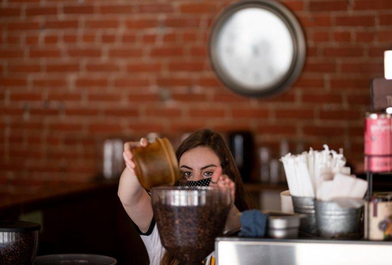 Mask coffee shop