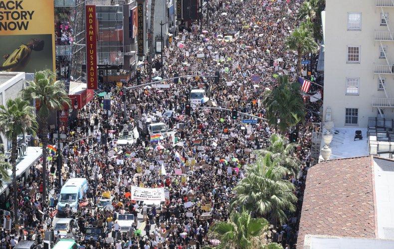 LA protest Black Live Matter June 2020