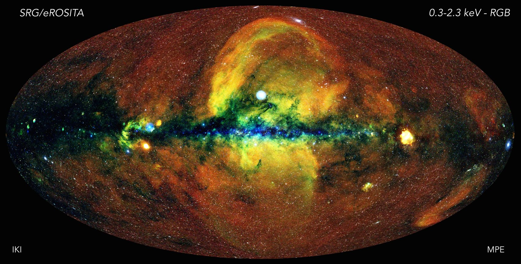Incredible X-ray map of the universe like you've never seen it before