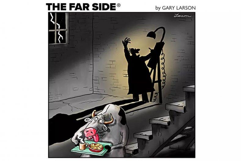 Gary Larson Far Side Comic Cow