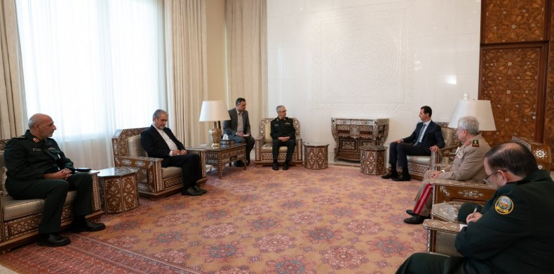 iran, bagheri, syria, assad, meeting, damascus