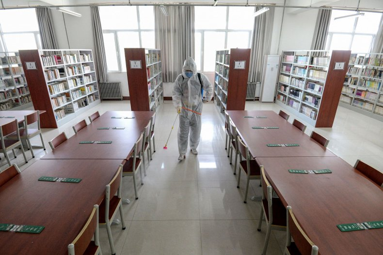 School library in China