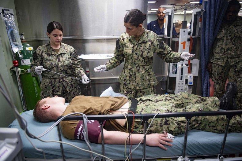 U.S. Navy hospital ship COVID-19 March 2020