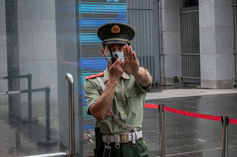 Chinese paramilitary police officer