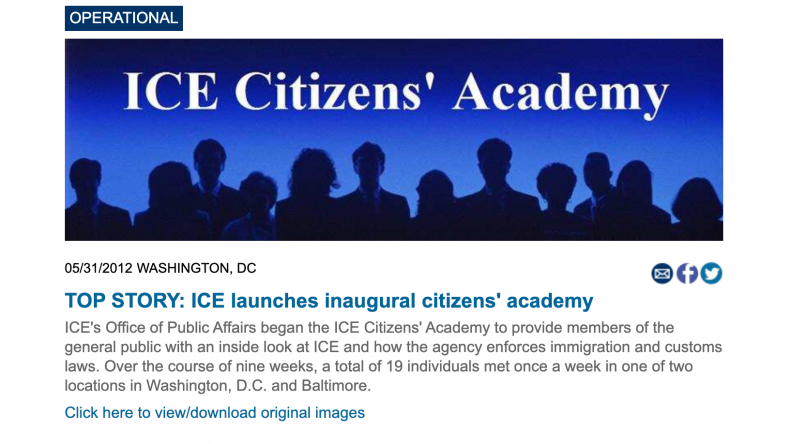 ICE Citizens Academy