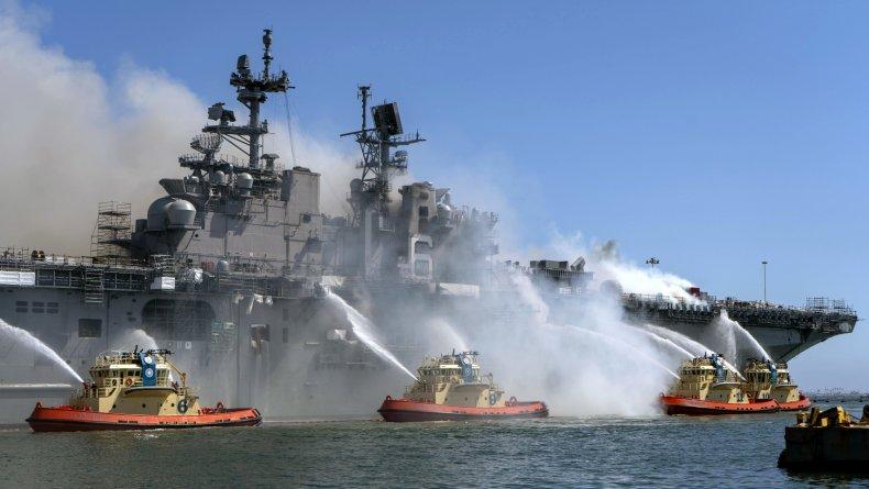 USS Bonhomme Richard, Iran, fire, explosion, natanz