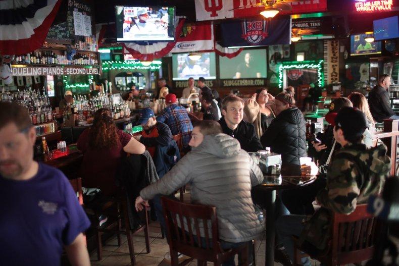 Chicago, Illinois, bar, March 2020