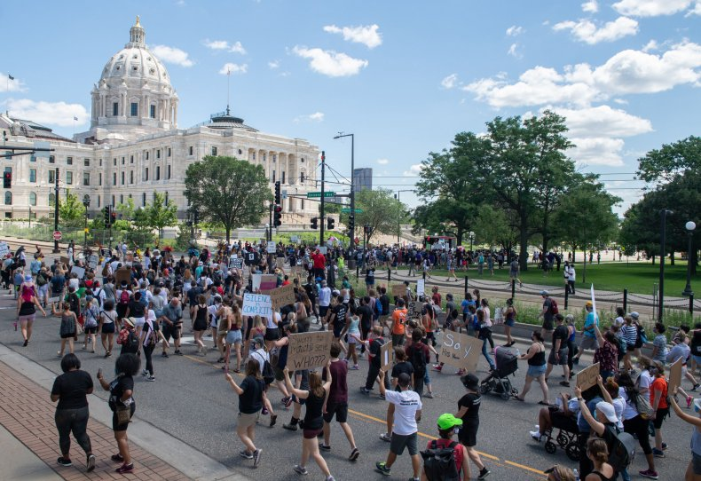 St. Paul, Minnesota, protest, July 12