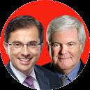 Newt Gingrich and Alfredo Ortiz