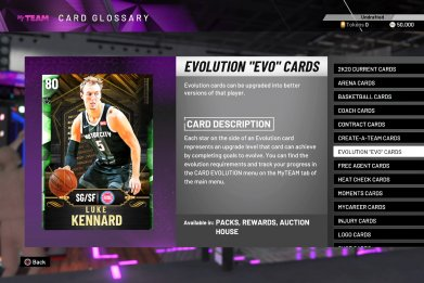 nba 2k20 evo cards