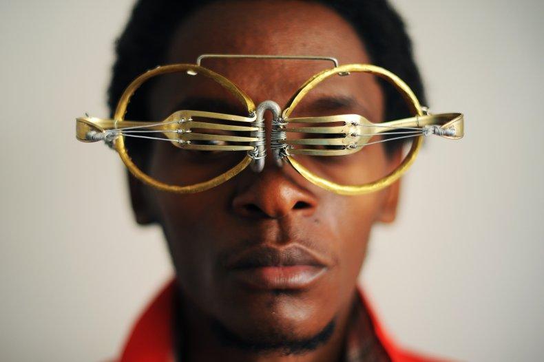 Cyrus Kabiru glasses