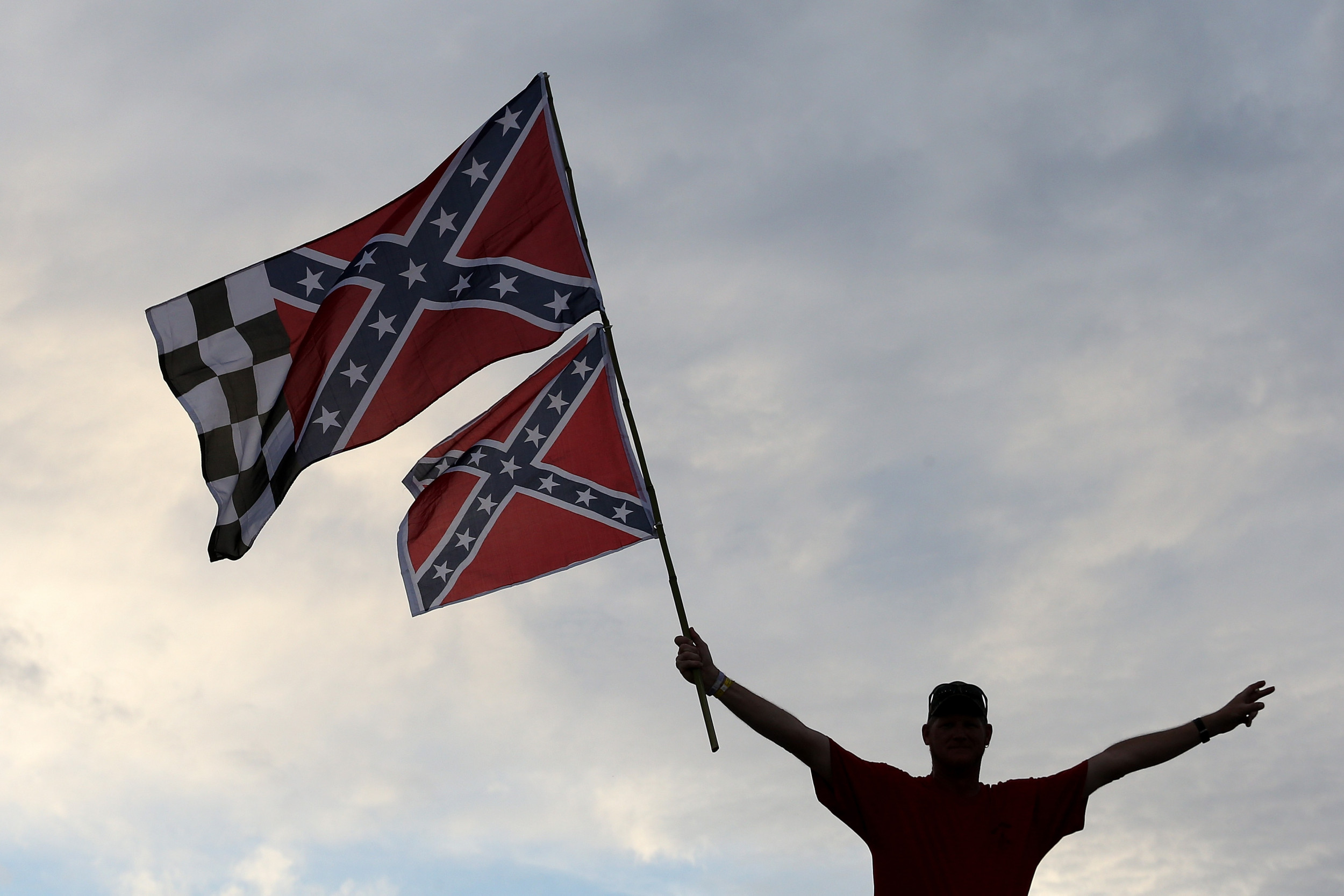 Confederate flag flies over NASCAR All-Star race in defiance of ban