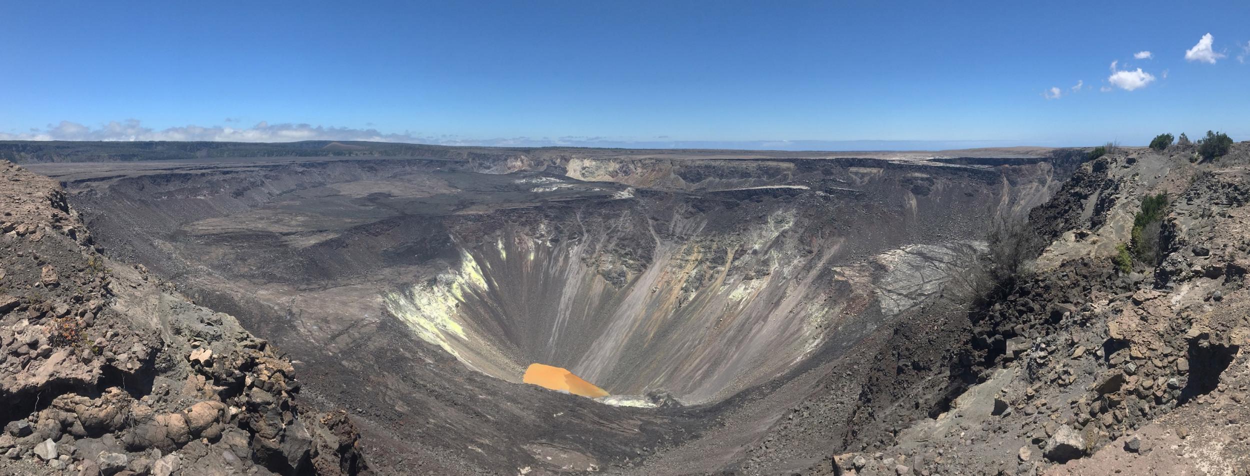Boiling lake inside Hawaii's Kīlauea volcano is now 130 feet deep