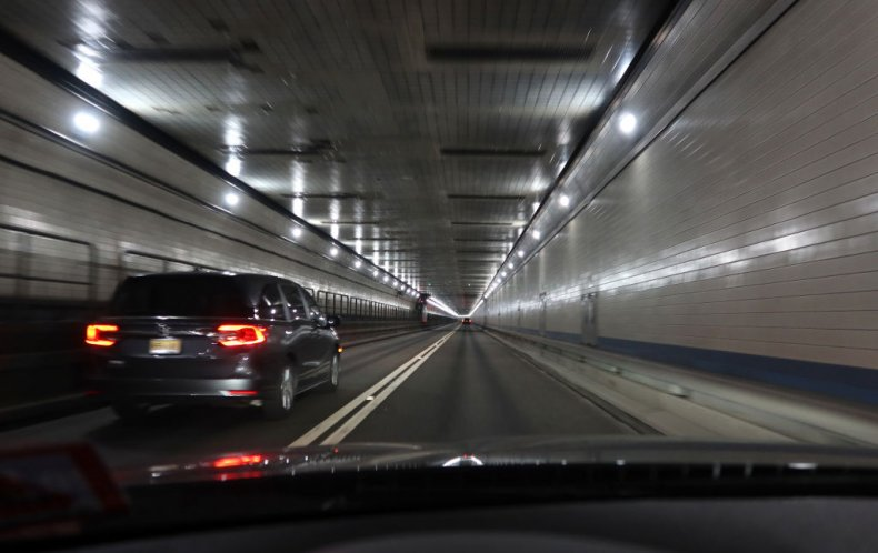 Inside Lincoln Tunnel, NYC