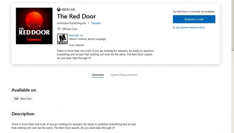 red door microsoft store