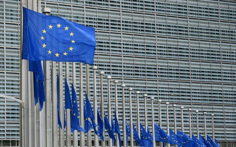 EU flags at half-staff