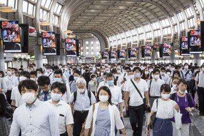 Tokyo Japan face mask July 2020