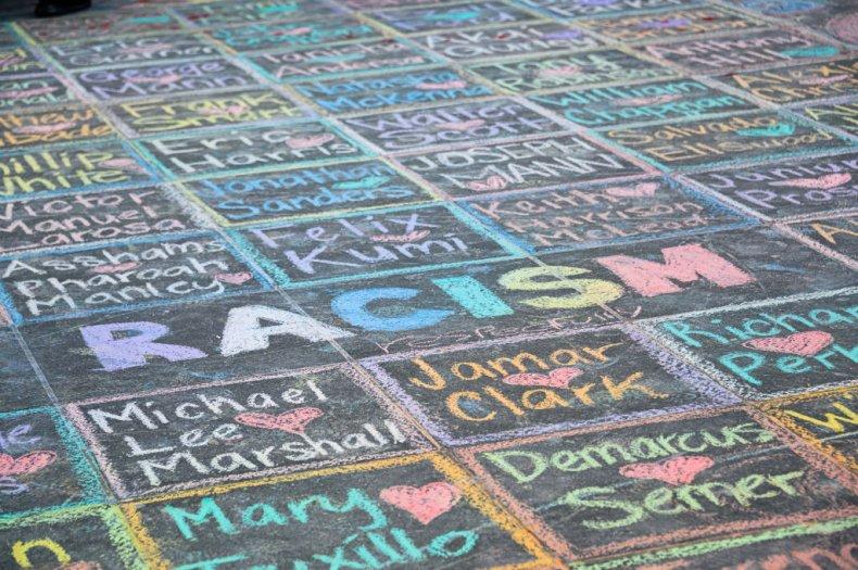Activist Chalk Art