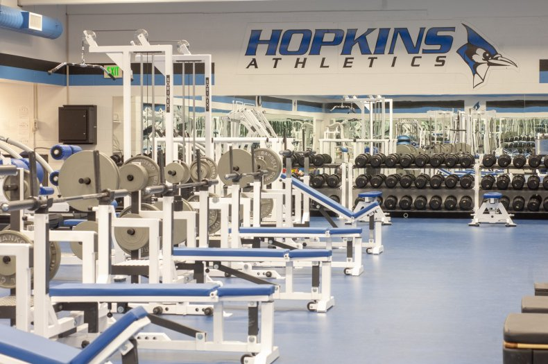 Gym at Johns Hopkins University