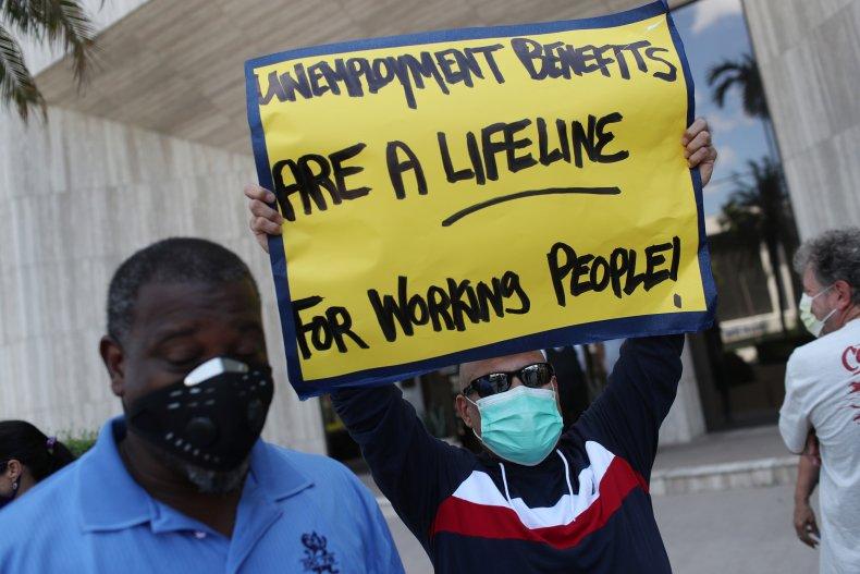 Unemployment Benefits Sign
