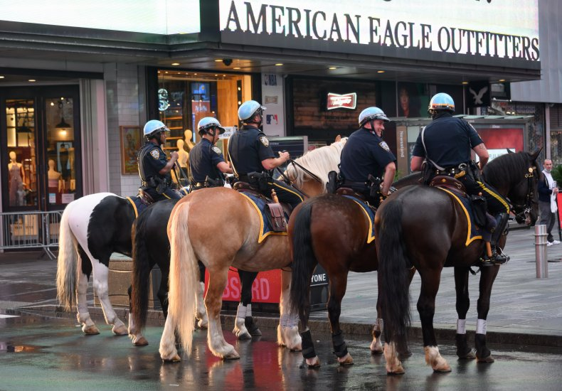 NYPD officers on horseback