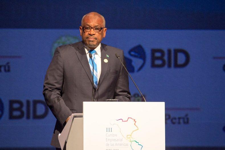 Bahamas Prime Minister Hubert Minnis