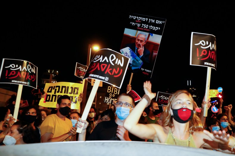 Benjamin Netanyahu, Israel, coronavirus, Jeffrey Epstein, protests