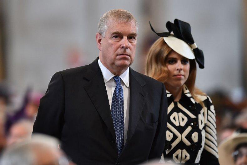 Prince Andrew, Princess Beatrice, Queen's Birthday service