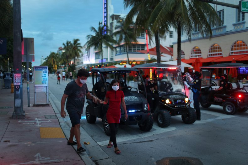 Miami Beach Florida coronavirus July 2020