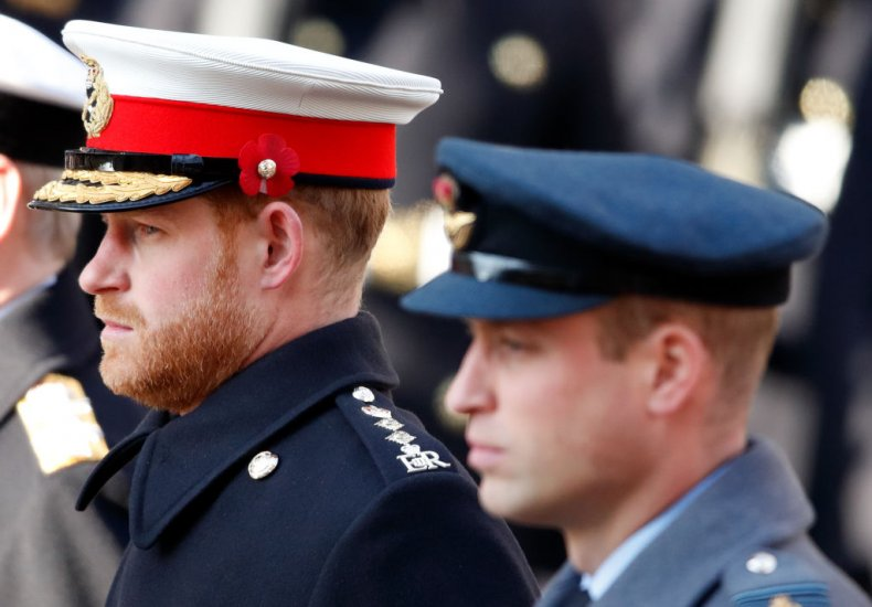 Prince Harry and Prince William Cenotaph