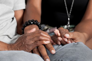 holding hands, patient, stock, getty
