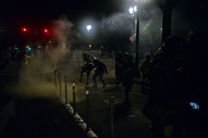 Federal officers, Portland protests